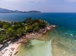 Aerial view of Koh Phangan, Thailand