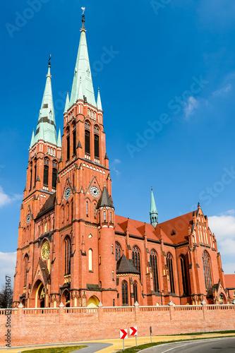 Fototapeta Basilica of Saint Antoni  in Rybnik, Silesia, Poland.