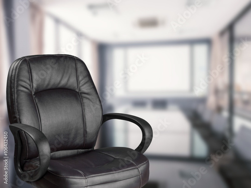 Office Chair With Meeting Room Background