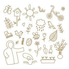 Spring Doodles Set