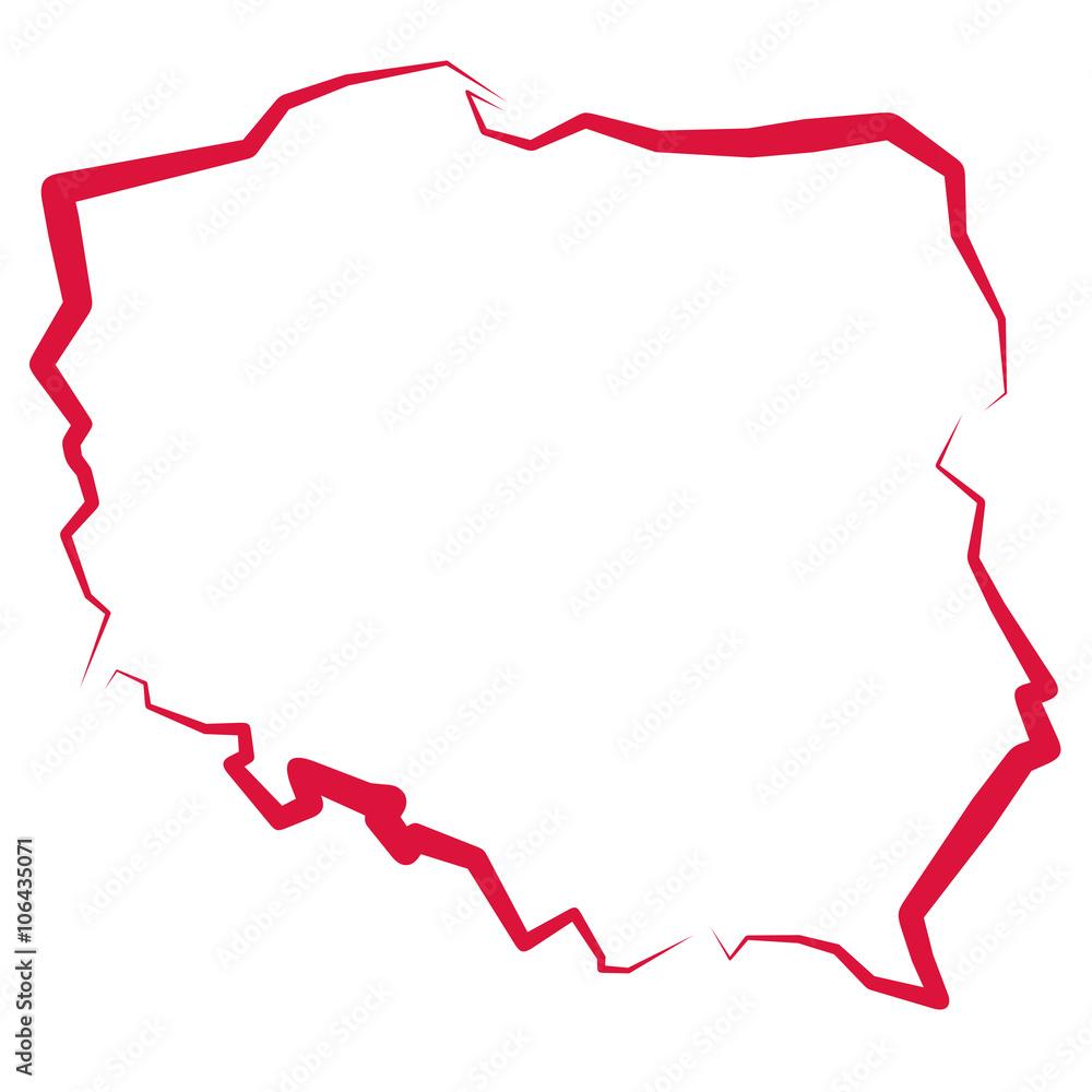 Polen Karte Umriss.Karte Von Polen Foto Poster Wandbilder Bei Europosters