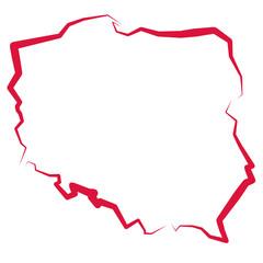 Fototapeta na wymiar Mapa Polski