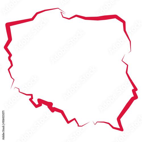 Fotografie, Obraz  Mapa Polski