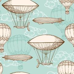 fototapeta Vintage z balonów