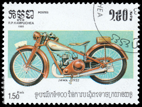 Photo  Stamp printed in Kampuchea shows Jawa