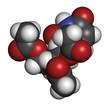 Uridine triacetate drug molecule.