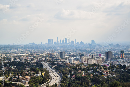 Photo  Good sunny day in downtown Los Angeles, California