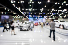 Blur Photo Of Motor Show, Car Show Room