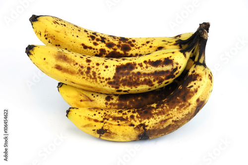 Fotografie, Tablou  rotted banana on white background