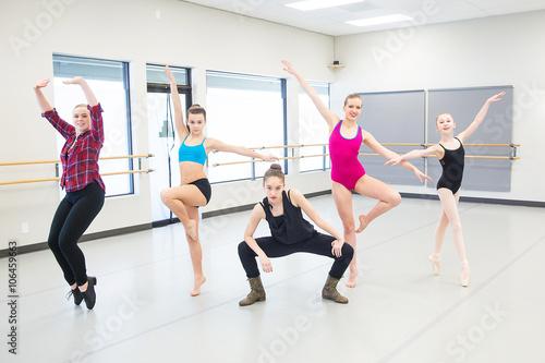 Fotografie, Obraz  group of young dancers in studio