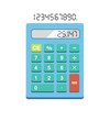 Calculator flat illustration isolated on white background. Simple calculator.
