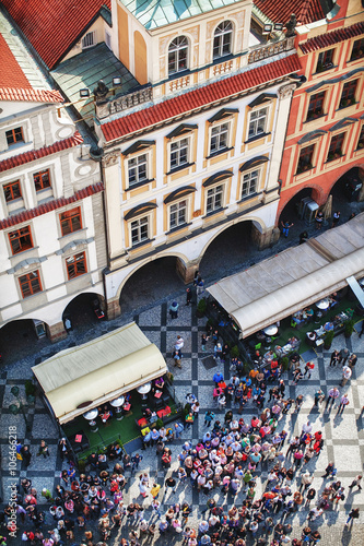 Staande foto Praag view of the area and people from above, Prague