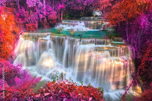 Küchenrückwand aus Glas mit Foto Wasserfalle Huai Mae Khamin Waterfall
