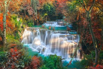FototapetaHuai Mae Khamin Waterfall