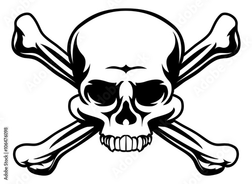 Photo  Skull and Crossbones Symbol