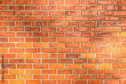 Photo sur Toile Brick wall Red brick wall