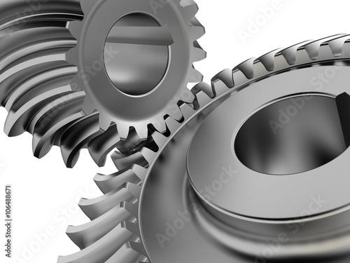 Valokuva  Bevel gears close up