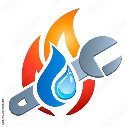 Fotografia  Gas-Wasser-Installateur / Heizungsbauer - Firmenlogo