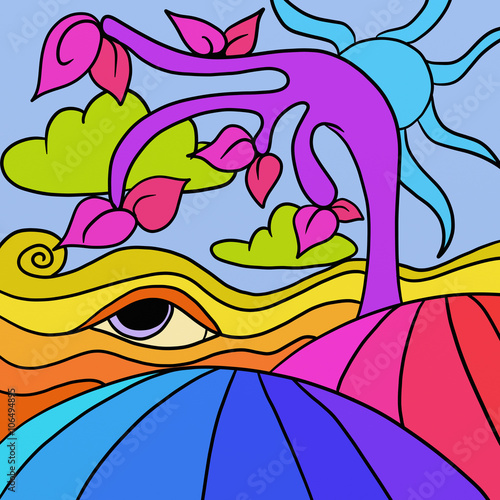 Foto op Canvas Klassieke abstractie albero viola