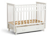 White crib for kids without mattress
