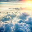 Leinwandbild Motiv Beautiful blue sky background