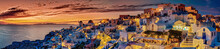 Santorin Panorama Abendstimmung
