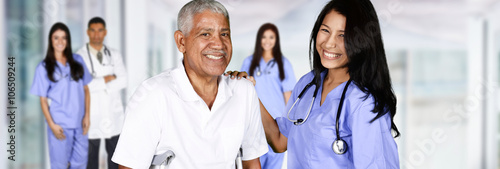 Fotografia  Nurse and Patient