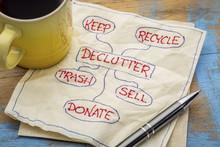 Declutter Concept On Napkin