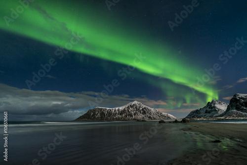 Foto auf Gartenposter Nordlicht Aurora borealis, northern lights