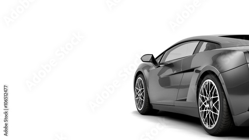 CG render of generic luxury coupe car - Buy this stock illustration