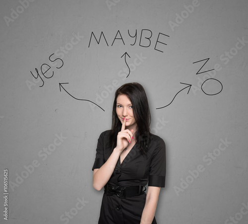 Valokuva  Woman standing sideways