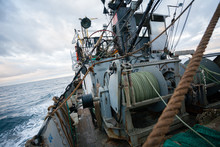 Rigging On The Deck Of Small Fishing Vessel