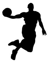 Action Basketball Silhouette I...