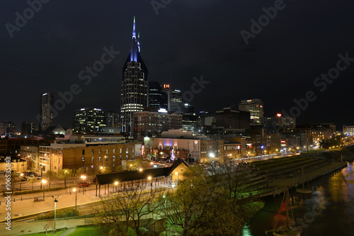 Photo  Downtown Nashville at Night