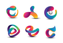 Abstract Colorful Logo Design ...