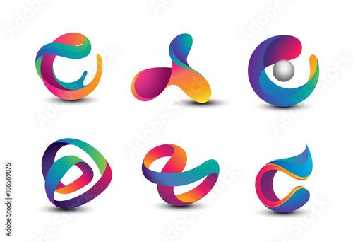 Obraz Abstract Colorful Logo Design Elements - fototapety do salonu