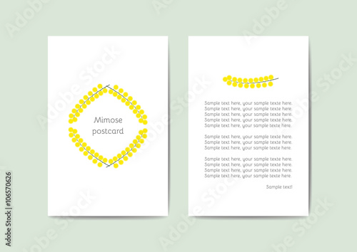 Vector greeting cards template with yellow flowers 10x15 cm ready vector greeting cards template with yellow flowers 10x15 cm ready for printing perfect m4hsunfo