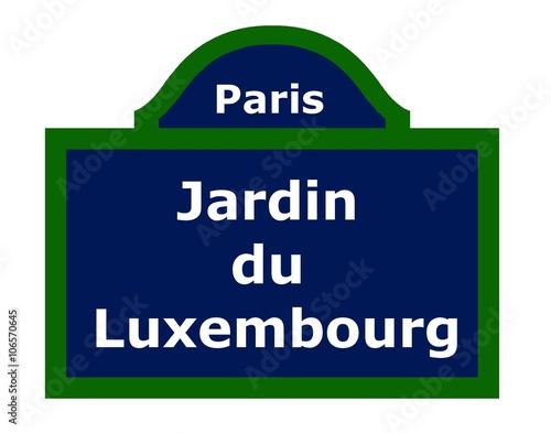 Fotografie, Obraz  Plaque de rue parisienne