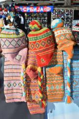 Woolen caps with tassel