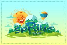 Springtime. Poster / Card / Background. Vector Illustration