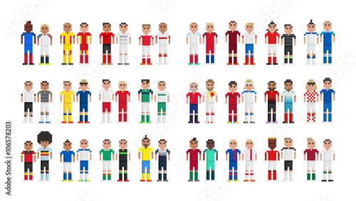 Photo  Footballeurs en pixels