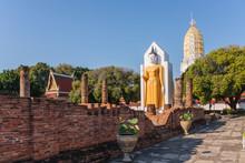 Buddha Statue Inside Wat Phrasimahathat Phitsanulok Province Thailand. January 03, 2016: Buddha Statue.