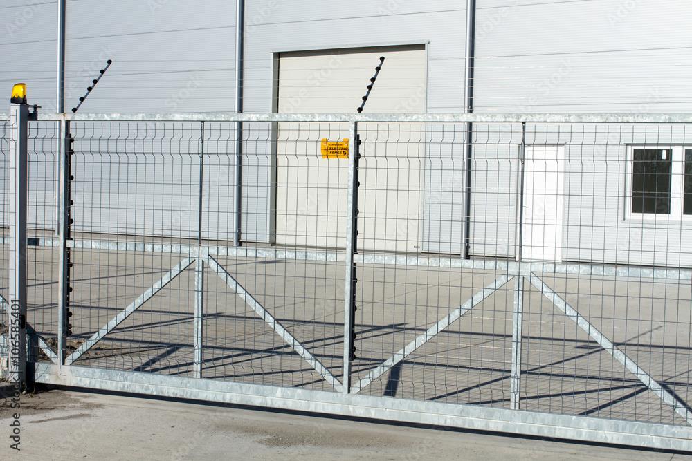 Fototapeta electric fence, gate