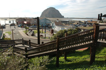 Harbor At Morro Bay With Morro Rock, California, USA