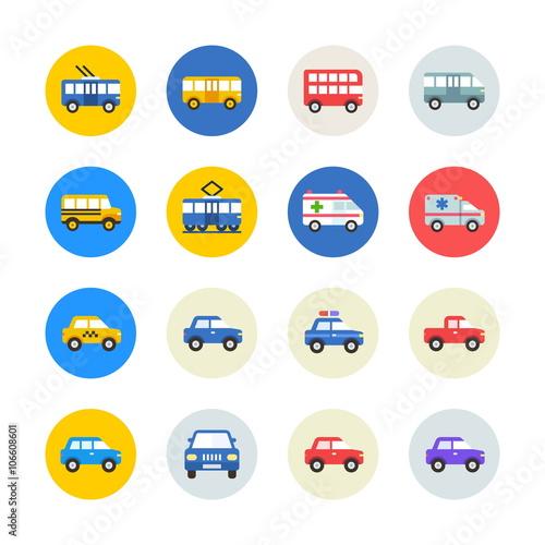 Fotografie, Tablou  Public transport icons