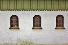 Old, Traditional Farm Windows,...
