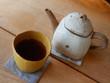 Pottery tea and teapot