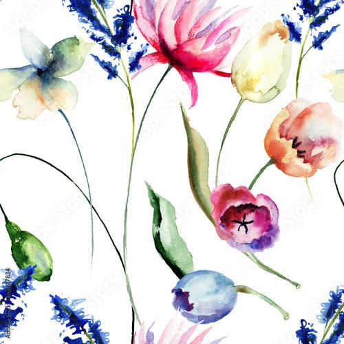 wzor-z-dzikich-kolorowych-kwiatow-na-bialym-tle-akwarela