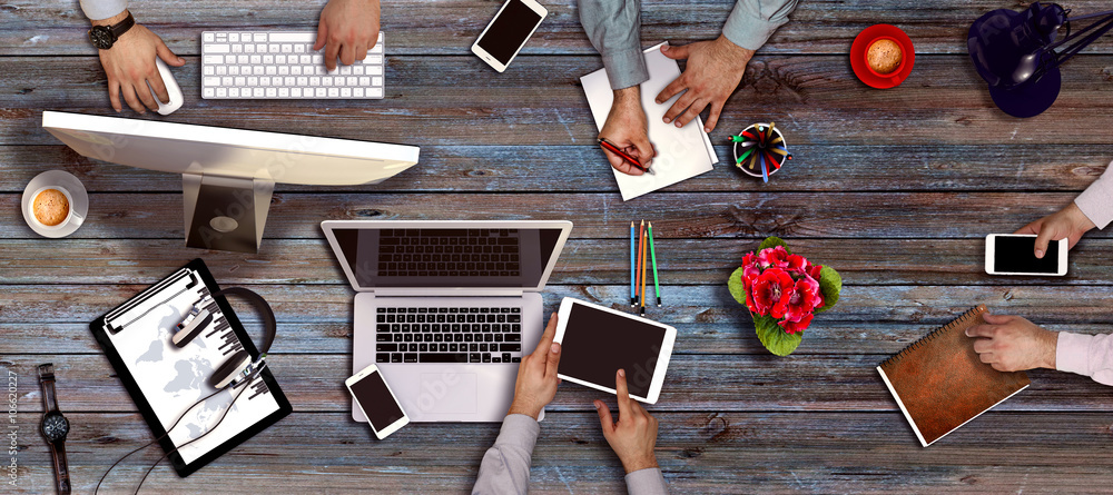 Fototapeta People Meeting Corporate Working Technology Startup Concept