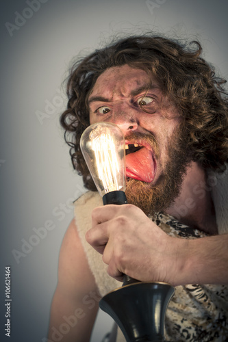 Photo  Stupid Caveman Lightbulb
